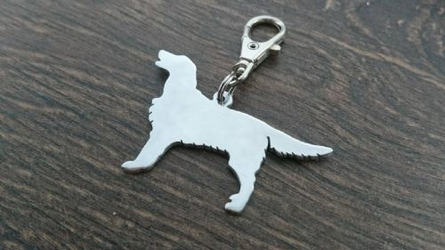 Flatcoat retriever keyring 3.5cm handmade by saw piercing